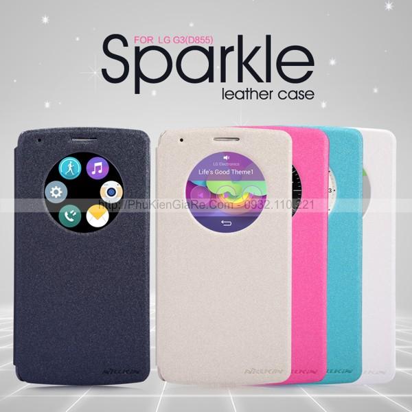 Bao da LG G3 hiệu Nillkin Sparkle