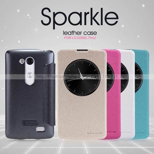 Bao da LG L Fino hiệu Nillkin Sparkle