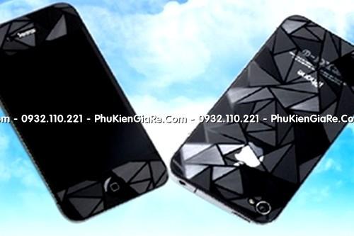 Miếng dán kim cương 3D iPhone 4S