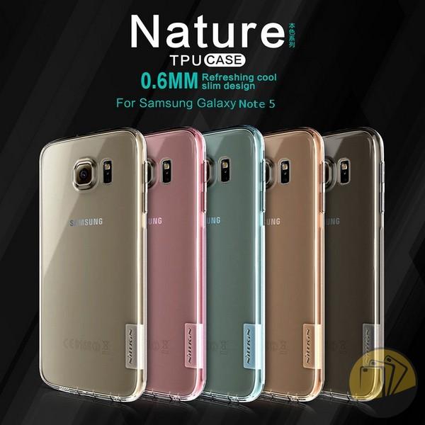 Ốp lưng Galaxy Note 5 hiệu Nillkin dẻo siêu mỏng