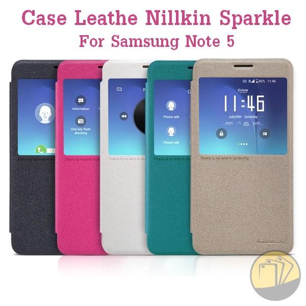 Bao da Galaxy Note 5 hiệu Nillkin Sparkle