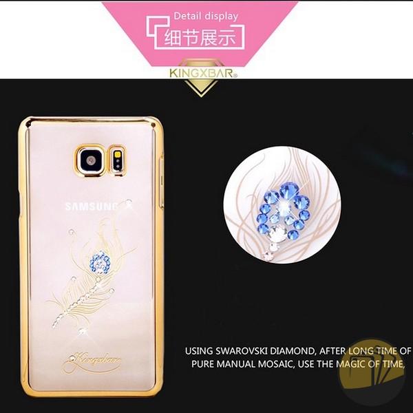 Ốp thời trang Samsung Note 5 đính đá hiệu KingxBar