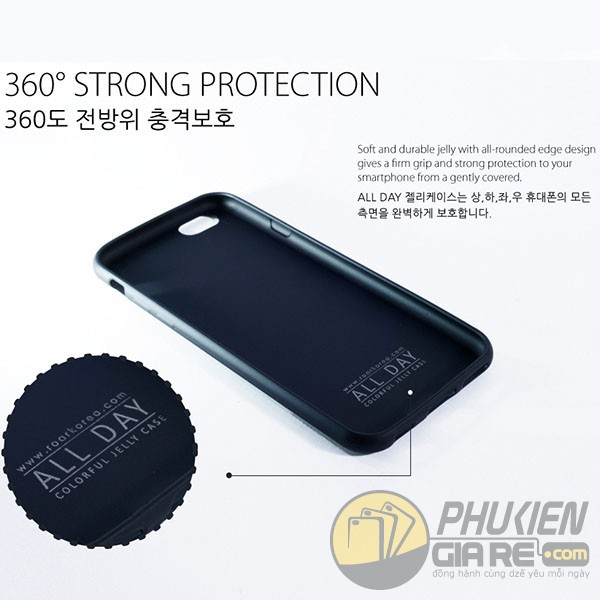 Ốp lưng dẻo Iphone 7 hiệu Roar Korea (All Day Colorfull Jelly Case)
