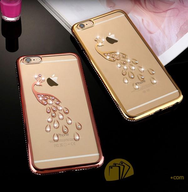 Ốp Lưng Iphone 7 Dẻo Trong Hình Đính Đá