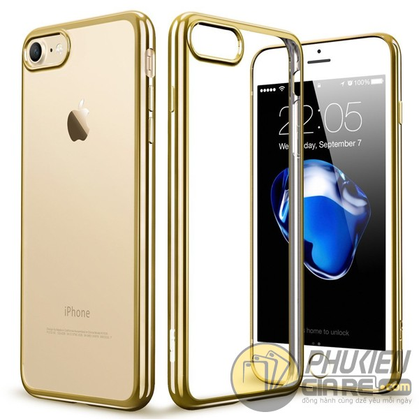 Ốp lưng iPhone 7 dẻo siêu mỏng viền màu (Perfect Case)