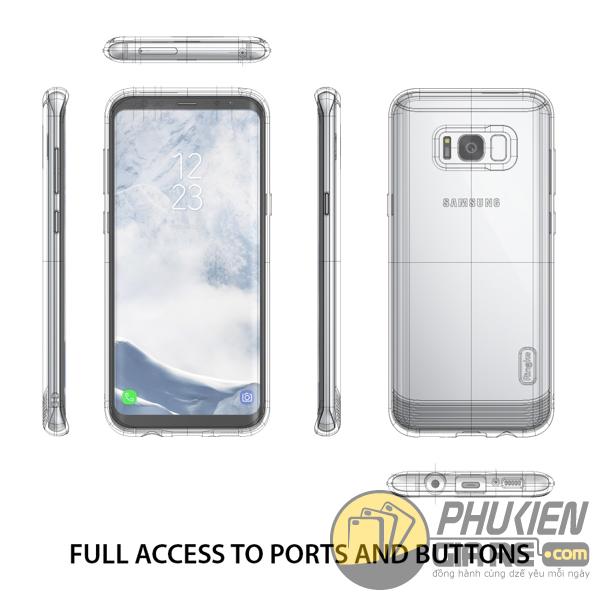 Ốp Lưng Samsung Galaxy S8 Hiệu Ringke Flex S (thương hiệu Hàn Quốc)