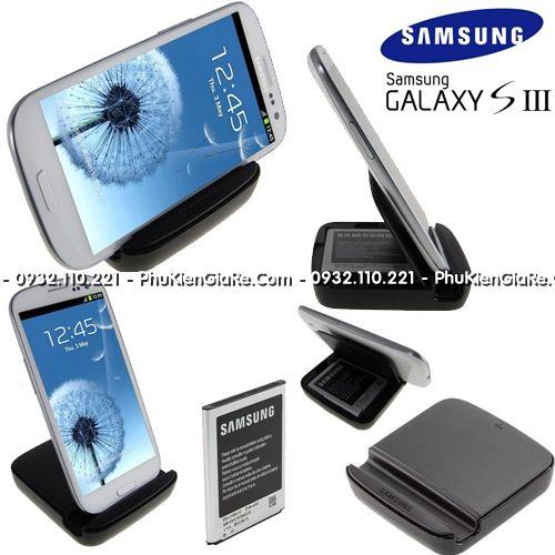 Samsung Galaxy S3 Extra Battery Kit (Combo dock và pin chính hãng)