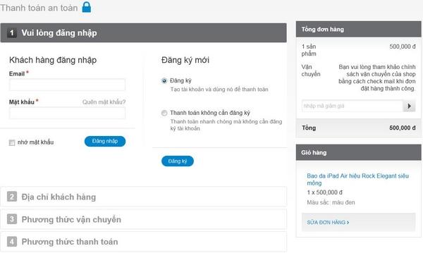 Hướng dẫn đặt hàng online tại Phukiengiare.com