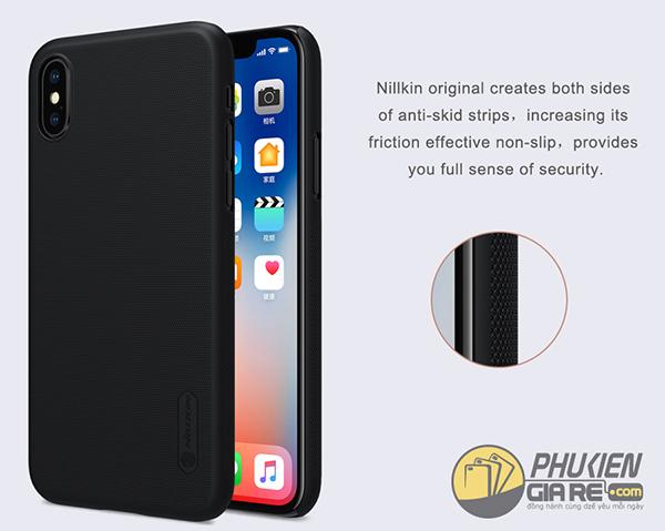 Ốp lưng iPhone X dạng sần Nillkin