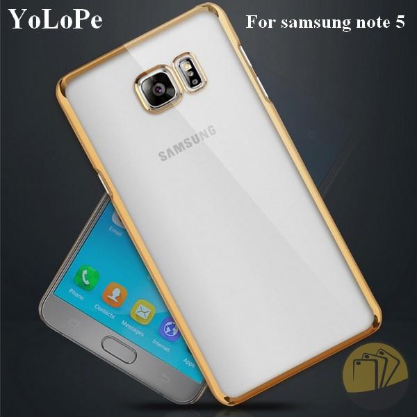 Ốp lưng dẻo Samsung Galaxy Note 5 viền xi màu hiệu Yolope