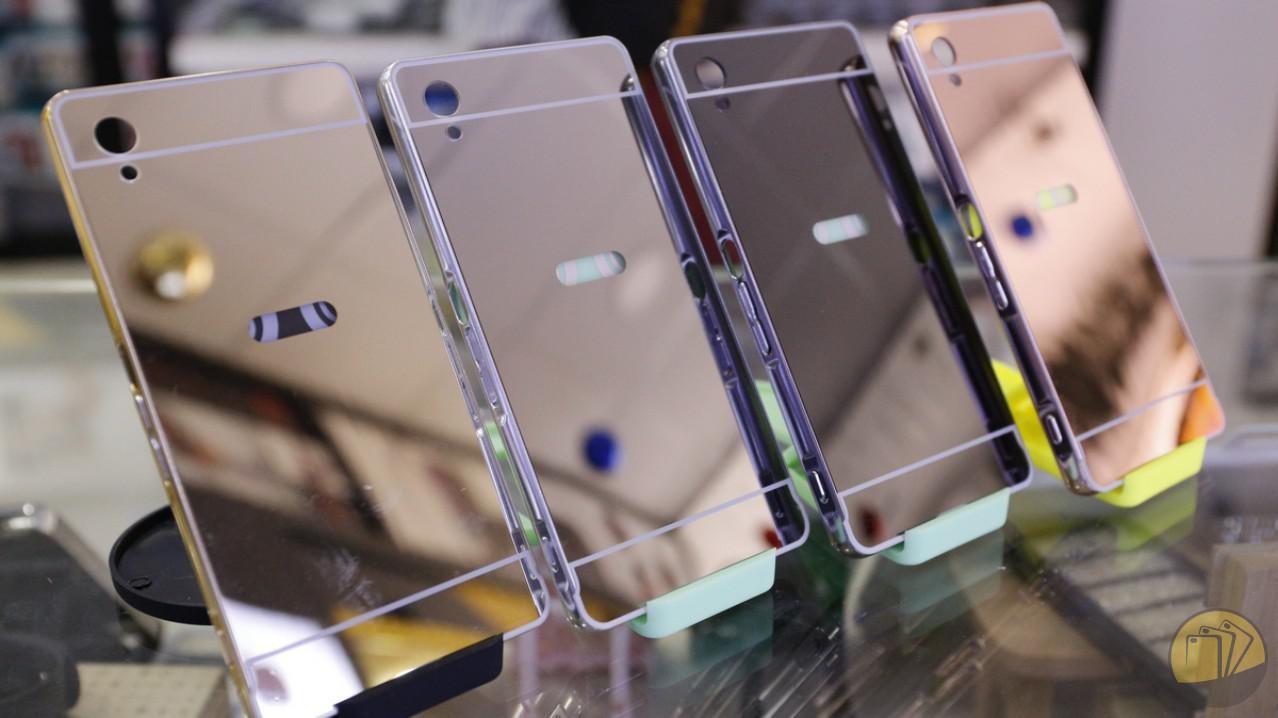 Ốp lưng tráng gương kiêm viền nhôm cho Sony Xperia M4 Aqua