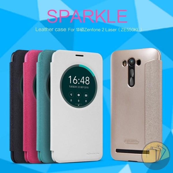 Bao da Asus Zenfone 2 Laser 5.5inch (ZE550KL) hiệu Nillkin Sparkle