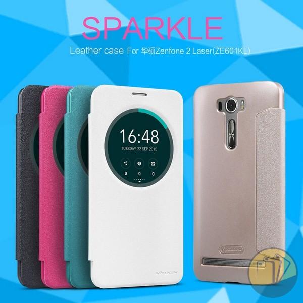 Bao da Asus Zenfone 2 Laser 6.0inch (ZE601KL) hiệu Nillkin Sparkle