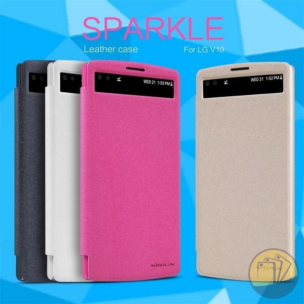 Bao da LG V10 hiệu Nillkin Sparkle