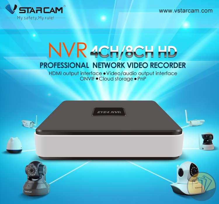 Đầu ghi Vstarcam N400 Eye4 NVR 4CH network video recorder