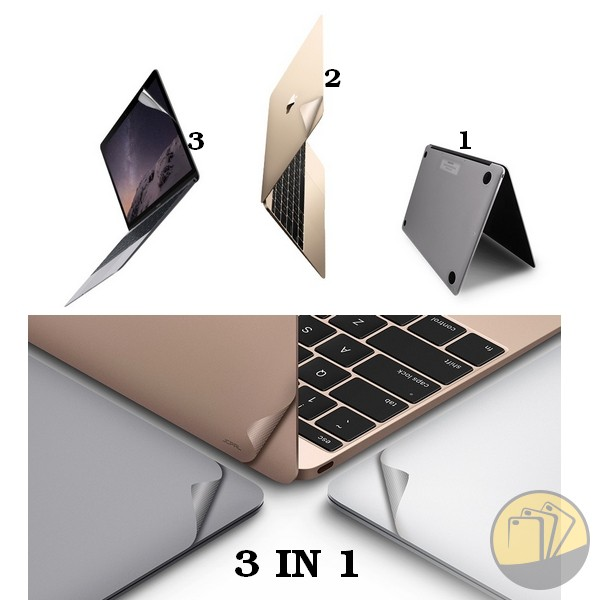 Miếng dán Macbook Air 11'' hiệu JCPAL 3 in 1