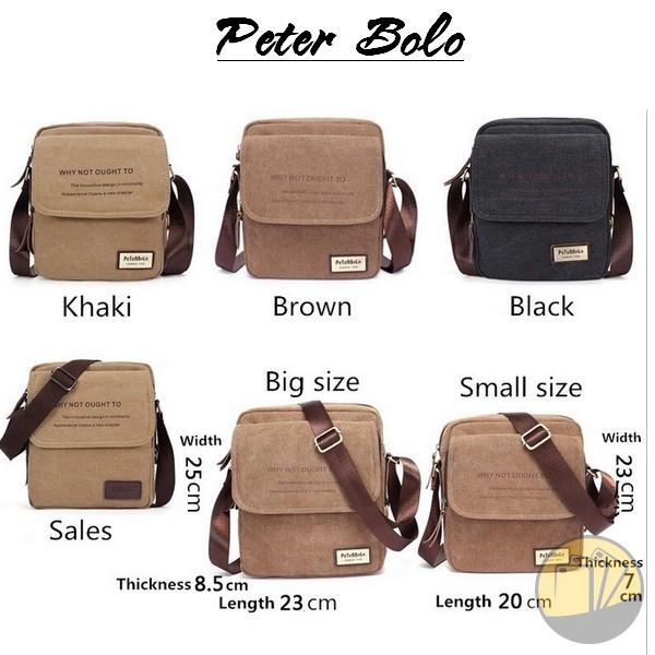 Túi đeo Peter Bolo Cao cấp nhập khẩu Châu âu 10 inch