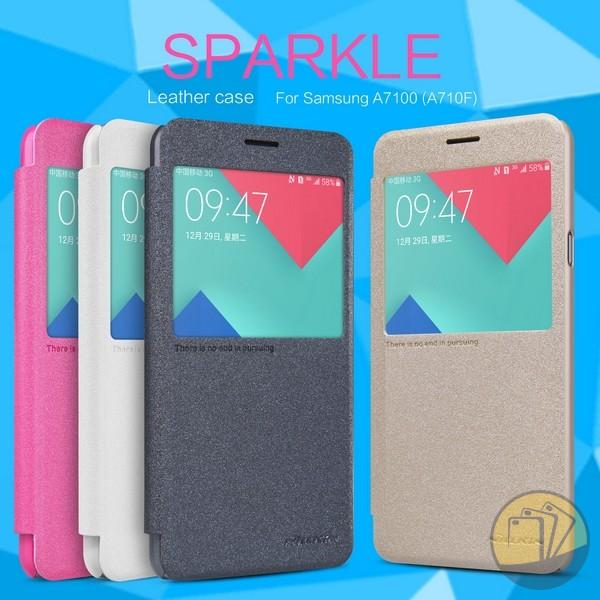 Bao da Samsung A7 2016 hiệu Nillkin Sparkle