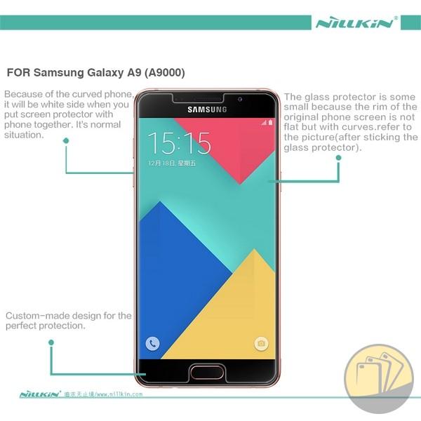 Dán cường lực 9H+ cho Samsung Galaxy A9 hiệu Nillkin