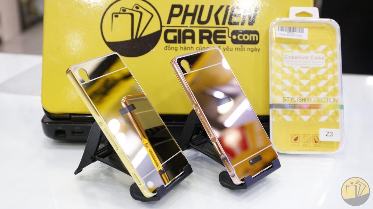 Ốp lưng tráng gương kiêm viền nhôm cho Sony Xperia Z3