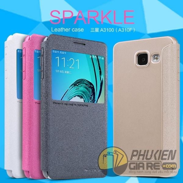 Bao da Galaxy A3 2016 hiệu Nillkin Sparkle