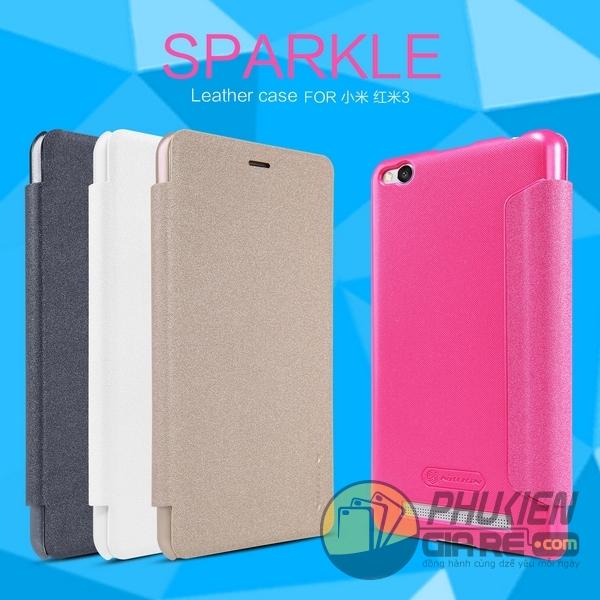 Bao da Xiaomi Redmi 3 hiệu Nillkin Sparkle