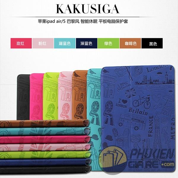 Bao da iPad Pro 9.7inch hiệu Kaku (Paris Style)