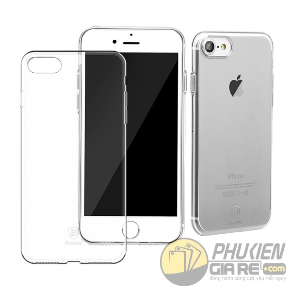 Ốp lưng dẻo trong suốt Iphone 7 hiệu Baseus (Simple Series)