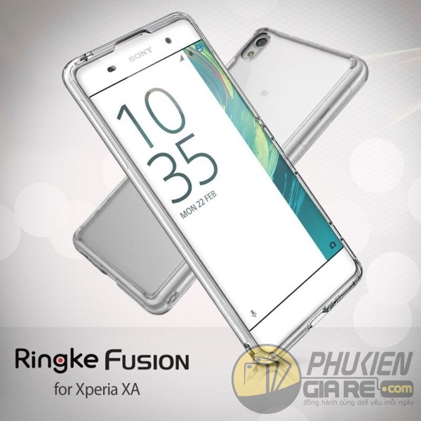 Ốp lưng Xperia XA hiệu Ringke Fusion (thương hiệu Hàn Quốc)