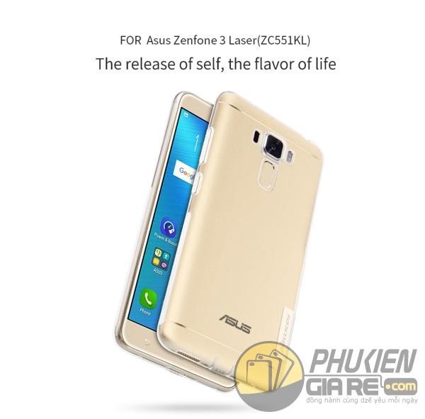Ốp lưng ASUS Zenfone 3 Laser 5.5inch (ZC551KL) hiệu Nillkin dẻo siêu mỏng