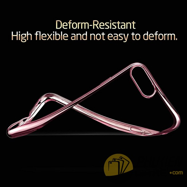 Ốp lưng iPhone 7 Plus dẻo siêu mỏng viền màu (Perfect Case)