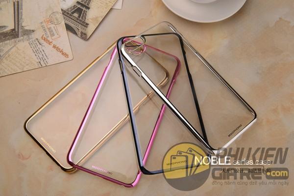 Ốp lưng trong suốt viền màu iPhone 7 Plus hiệu Meephone (Noble Series Case)
