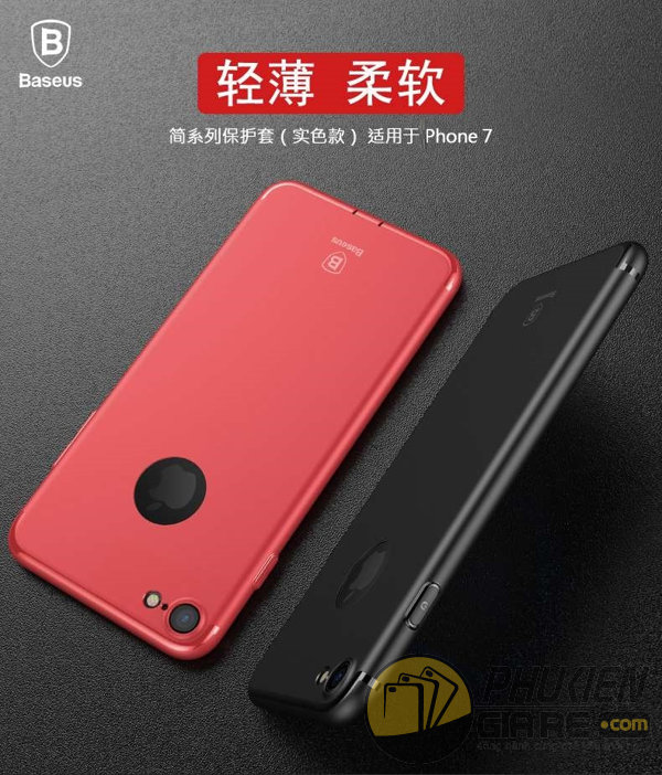 Ốp lưng iPhone 7 hiệu Baseus - Sinple Series Solid Colour