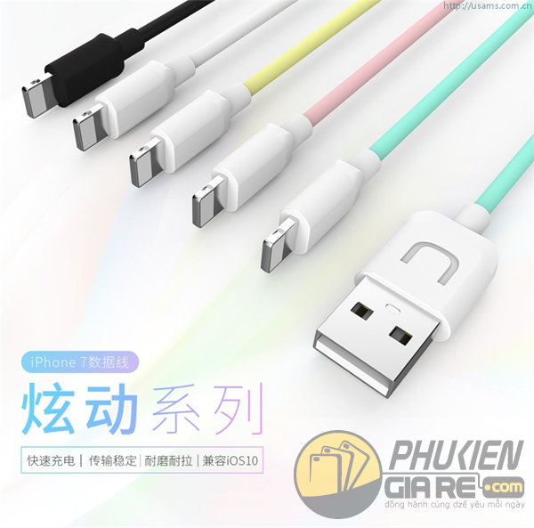 Cáp Lightning Hiệu Usams - U-TURN Series