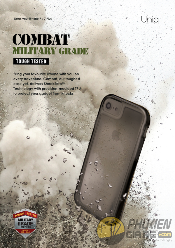 Ốp lưng Apple iPhone 7 Plus - Uniq Combat