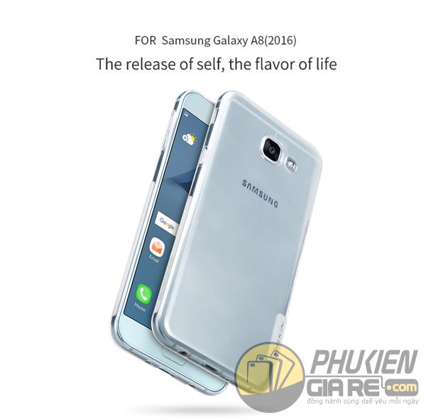 Ốp lưng Galaxy A8 2016 hiệu Nillkin dẻo siêu mỏng