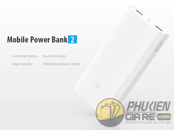 Pin sạc dự phòng Xiaomi 20.000mAh Gen2 chính hãng