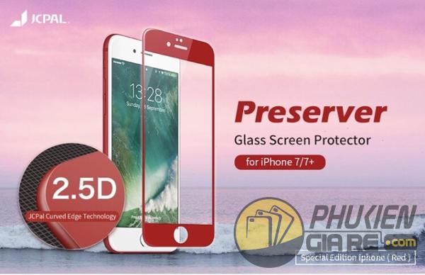 Dán cường lực iPhone 7 3D full màn hình hiệu JCPAL