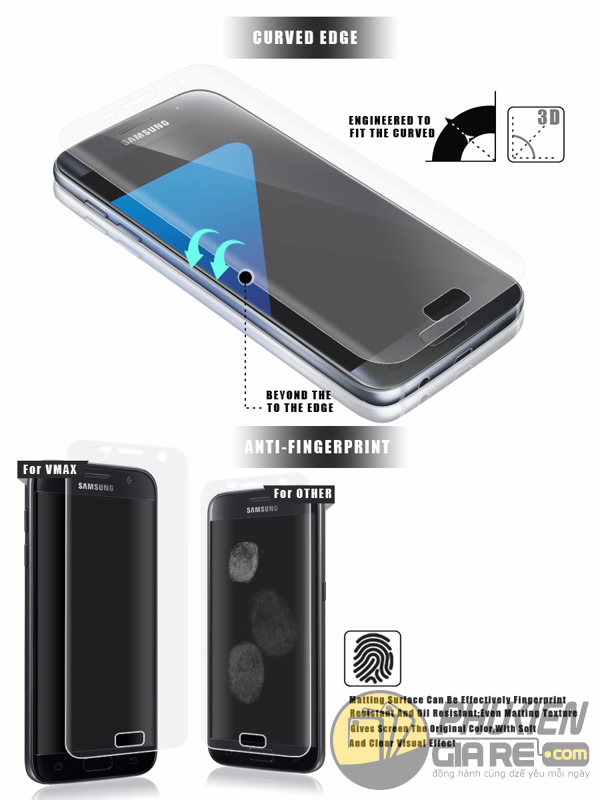 Miếng dán màn hình Samsung Galaxy S8 hiệu V-max