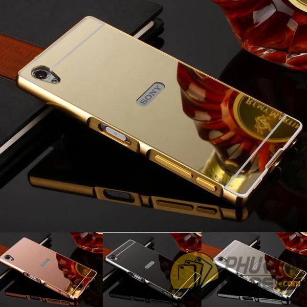 Ốp lưng tráng gương kiêm viền nhôm cho Sony Xperia Z5 Mini
