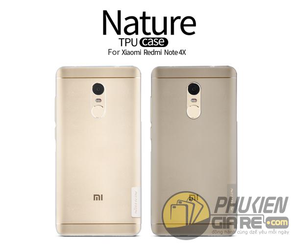 Ốp lưng Xiaomi Redmi Note 4X hiệu Nillkin dẻo siêu mỏng