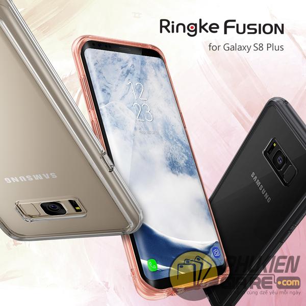 Ốp lưng Samsung Galaxy S8 Plus hiệu Ringke Fusion (thương hiệu Hàn Quốc)