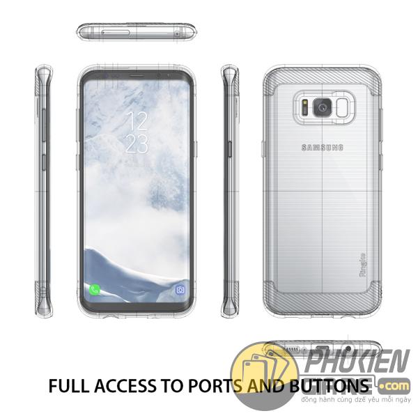 Ốp Lưng Samsung Galaxy S8 Hiệu Ringke Onyx (thương hiệu Hàn Quốc)