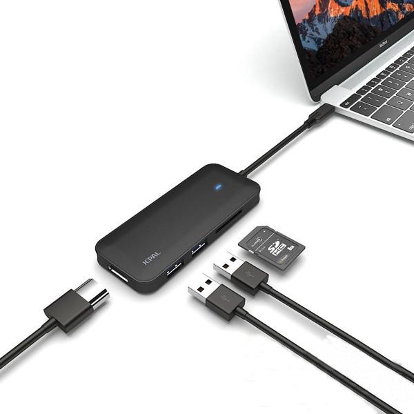 Cáp chuyển USB Type-C sang HDMI 4K 5 in 1 Jcpal