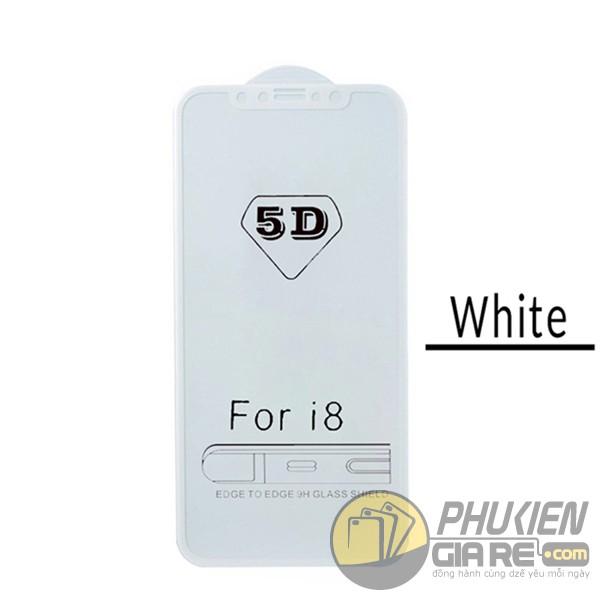 Dán cường lực iPhone 8 Plus full màn hình Glass 5D