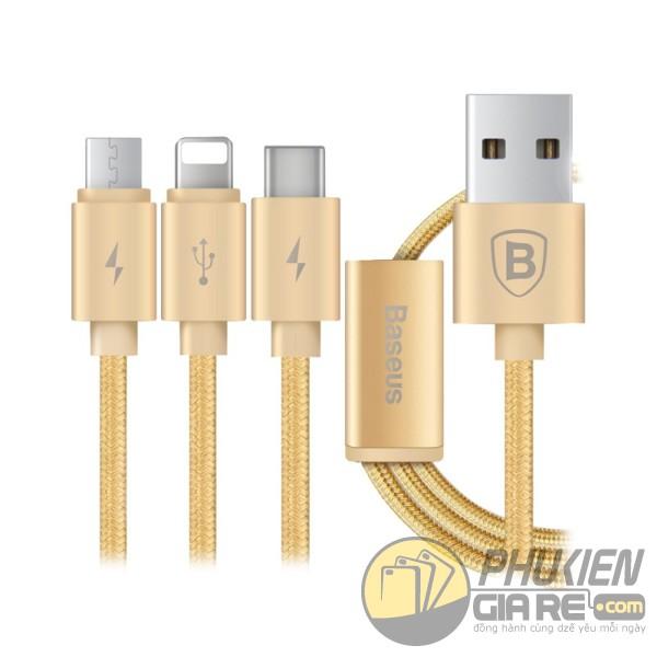 Cáp sạc Androi IOS 3-in-1 Baseus Sharing Series