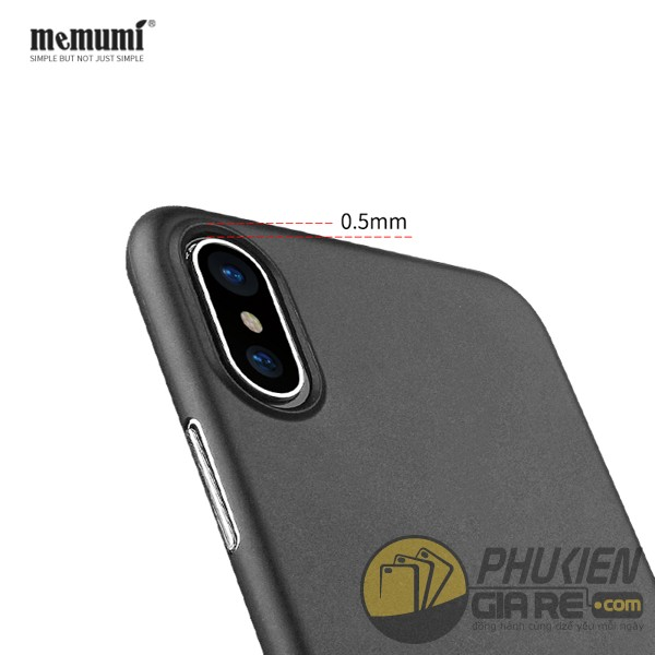Ốp lưng iPhone X hiệu Memumi (Slim Case Series)