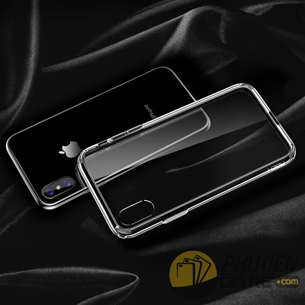 Ốp lưng iPhone X trong suốt Rock Pure
