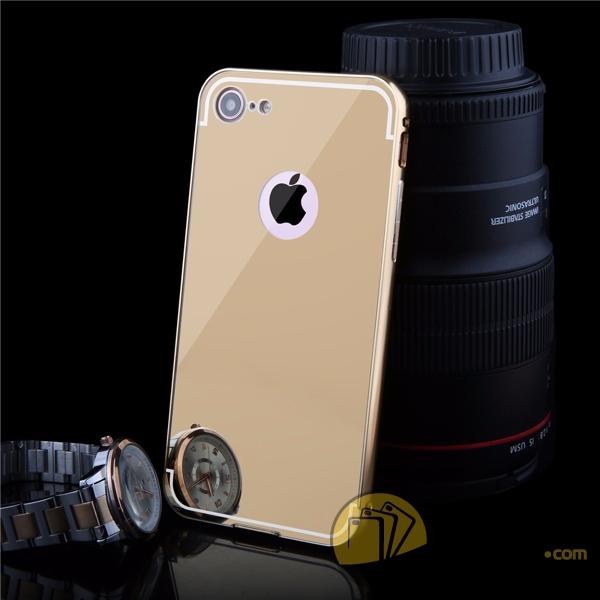 Ốp lưng iPhone 7 tráng gương kiêm viền nhôm