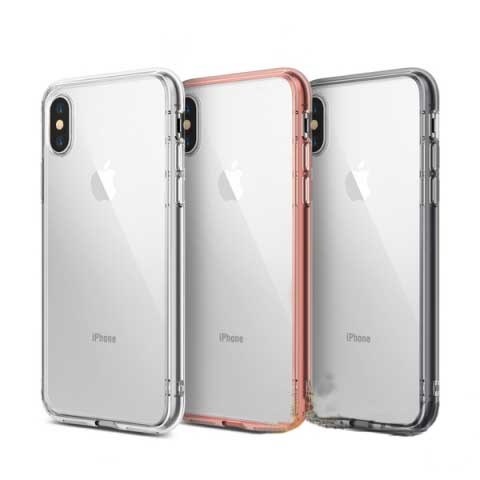Ốp lưng iPhone X trong suốt chống sốc Ringke Fusion